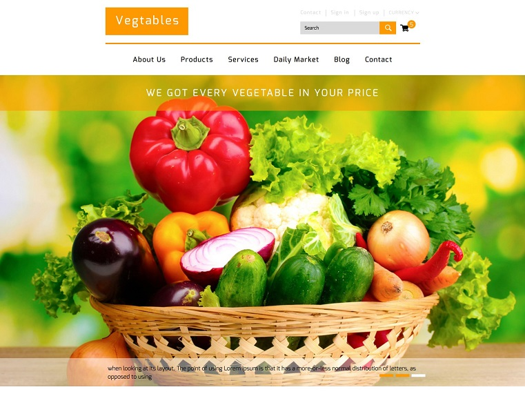 Vegetables A Ecommerce
